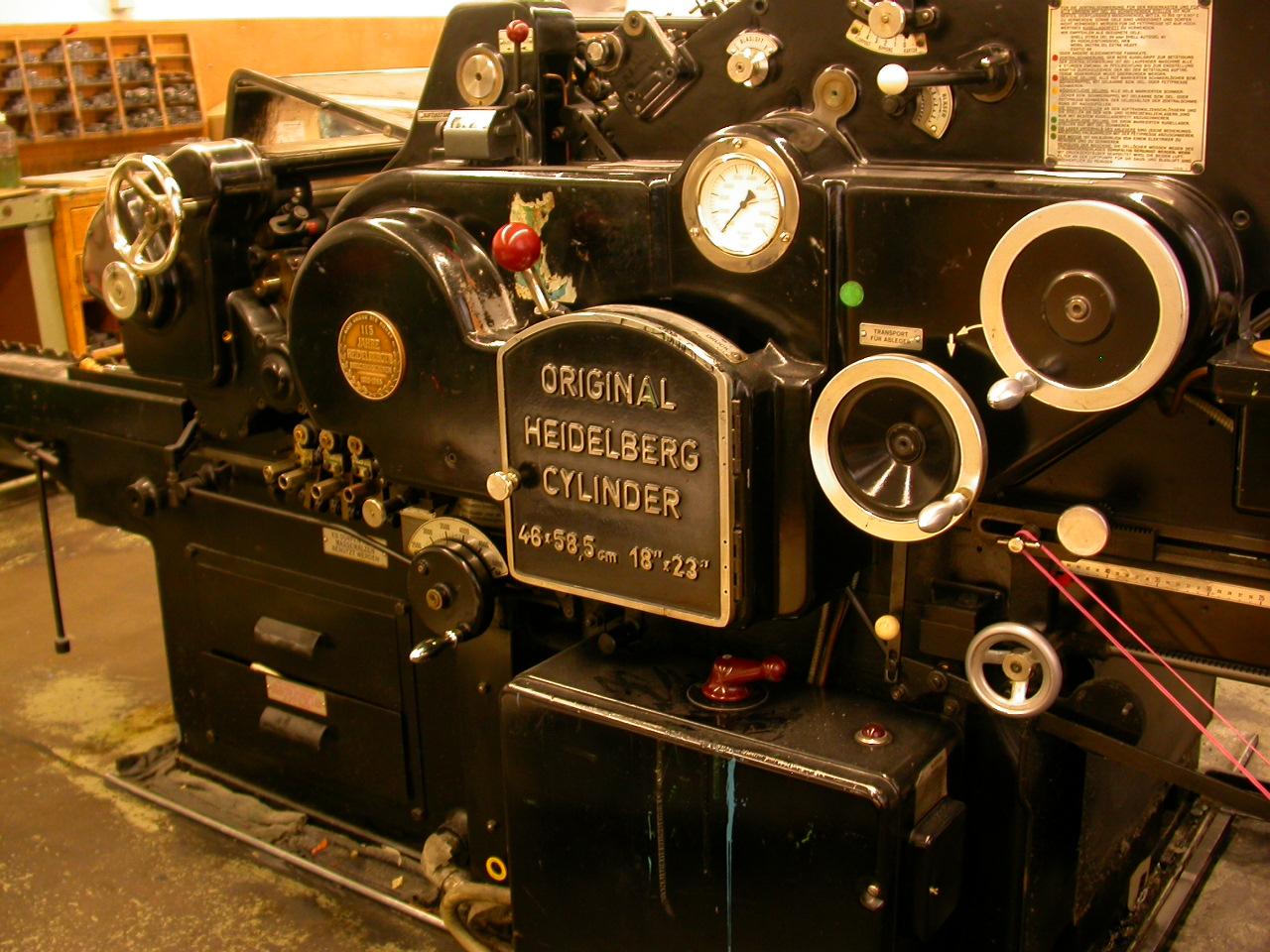 modern printing press machine