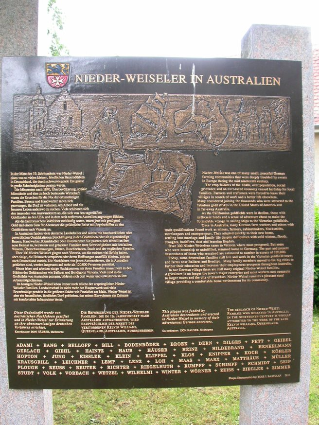 The Plaque in Total, Note the List of Surnames at the Bottom